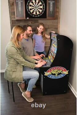 4ft Street Fighter Arcade Machine Games Arcade1up 3 En 1 Game Arcade Cabinet