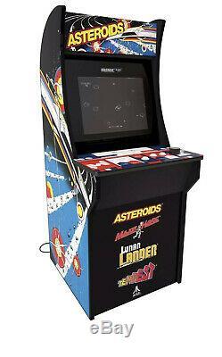 Arcade1up Asteroids Tempest Lunar Lander 4 Jeux En 1 Machine De 4 Pieds Neuve