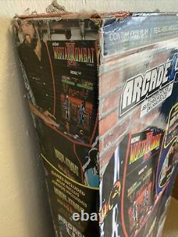 Arcade1up Mortal Kombat At-home Arcade Machine Avec Riser Flambant Neuf No Reserve