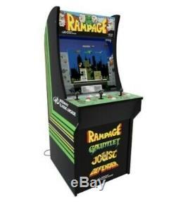 Arcade1up Rampage Machine + Gauntlet + Joust + Defender Machine Avec 17 LCD