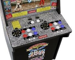 Arcade1up Retro Street Fighter 2 Cabinet De Machine De Jeu Vidéo Arcade 4ft De Hauteur Nouveau