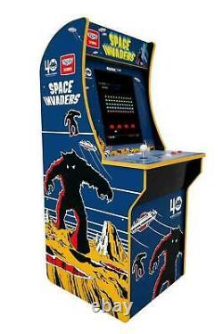Arcade1up Space Invaders 4ft Machine Salle De Jeux 17 LCD 1up Vintage Video Arcade