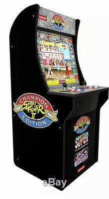 Arcade1up Street Fighter 2 3 Jeux En 1 Arcade Machine D'intérieur Haut En Plein Air 4ft