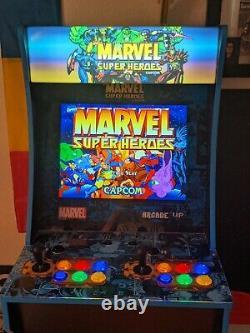 Arcade 1up 4ft Marvel Super Heroes À La Maison Arcade Machine + Riser