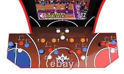 Arcade 1up Nba Jam Jeu De Jeu D'arcade Vidéo Avec Light Up Marquee Riser & Wifi