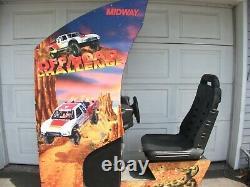 Arcade Machine Pleine Taille Assis Au Volant Jeu Midway Off Road Challenge
