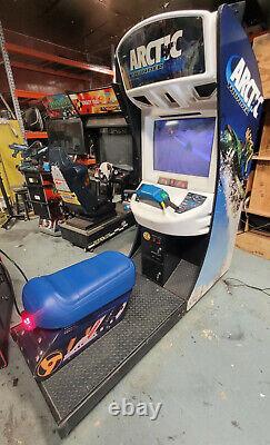 Arctique Thunder Snowmobile Arcade Driving Racing Vidéo Jeu Machine Travailleurs Grands