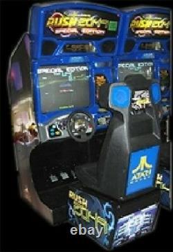 Atari Rush 2049 Arcade Machine (excellent Condition)rare Avec LCD Moniteur Supgrade