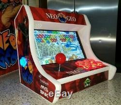 Bartop Fait Sur Commande / Machine De Cabinet D'arcade De Table Led Plus De 10.000 Jeux Classiques Nouveau