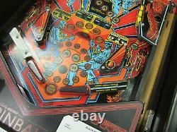 Black Belt Arcade Pinball Machine Bally/midway1986 (led Personnalisée)