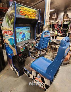 California Speed Car Racing Arcade Driving Video Game Machine Fonctionne Très Bien