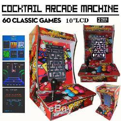 Cocktail Arcade Machine Avec 60 Jeux Classiques Ériger Jeu Vidéo Commercial