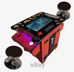 Cocktail Arcade Machine Trackball 412 Jeux Classiques En Bois De Cerisier Commercial