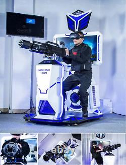 Commercial Virtual Reality Machine Shooting Gun 9d Simulator Vr Arcade Voir La Vidéo