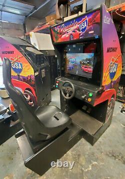 Cruisn' USA Arcade Driving Racing Machine De Jeu Vidéo Fonctionne Très Bien! Lcd! Cruisin 2