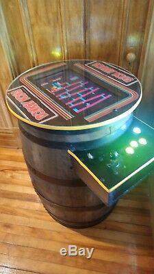 Donkey Kong Cocktail Arcade Machine Réel Whisky Barrel 60 Arcade Classics