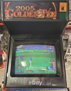 Golden Tee 2005 Arcade Golf Jeu Vidéo Machine Travaillant Grand