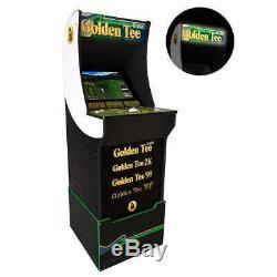 Golden Tee Arcade Machine Avec Riser Et Lighted Marquee, 4ft, Arcade1up