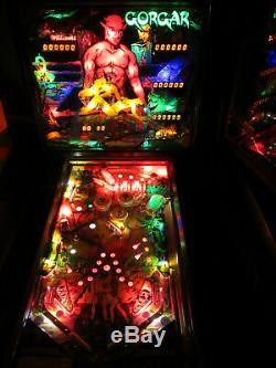 Gorgar Arcade Pinball Machine Par Williams 1979 (led Sur Mesure)