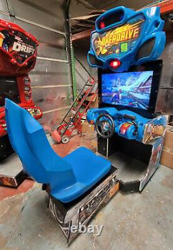 H2o Overdrive Boat Racing Arcade Driving Video Game Machine Fonctionne Très Bien! 32 LCD