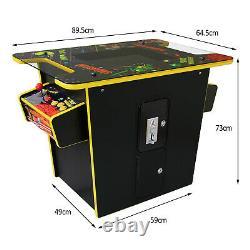 Machine D'arcade 60 Jeux Rétro 2 Joueurs Table De Cocktail De Meuble Classique