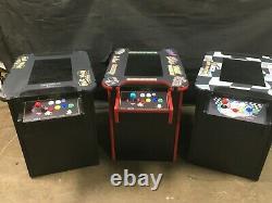 Machine D'arcade De Cocktails Rétro Avec Grand 21 Moniteur Et 60 Jeux Classiques Verre