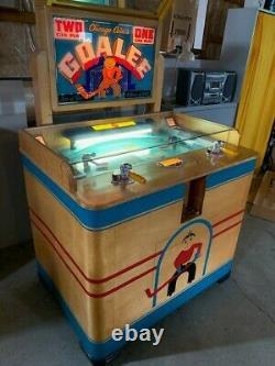 Machine D'arcade De Hockey Des Gardiens De Pièce De Chicago 1946