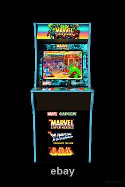 Marvel Super Heroes Arcade 1up Retro Gaming Cabinet Machine 3 Jeux Flambant Neuf