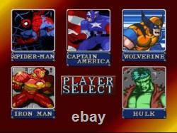 Marvel Vs Capcom Arcade 1up Machine Cab + Tabouret + Riser 5 Jeux Édition Limitée