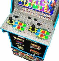Marvel Vs Capcom Arcade 1up Machine Cabinet Tabouret Riser 5 Jeux Édition Limitée