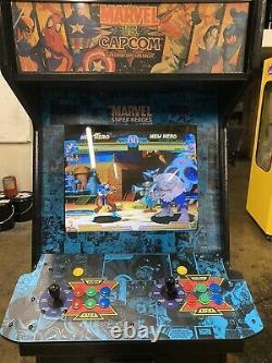 Marvel Vs Capcom Cps2 II Machine De Jeu Vidéo D'arcade Dans Un Cabinet Rare Dynamo Hs5