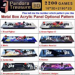 Métal 2200 Jeux Boîte De Pandore 9s Double Sticks Retro Arcade Console Machine 3d