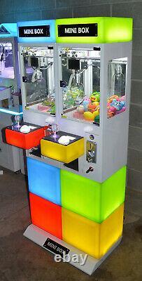 Mini Box Claw Machine Double Arcade Jeu Crane Nouveau Coin Opéré Allumé
