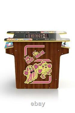 Ms. Pac-man Retro Arcade1up Tête-à-tête Cocktail Table Machine Avec 8 Jeux En 1
