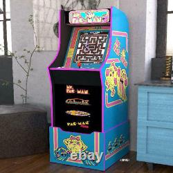 Ms Pacman Arcade Cabinet Home Gaming Machine Avec Riser, Arcade1up Shipping Now