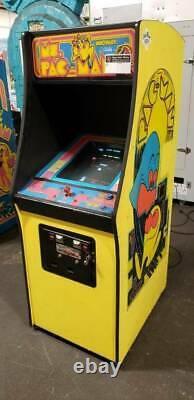 Ms Pacman Vintage 1980s Original Machine D'arcade Pleine Grandeur Droite