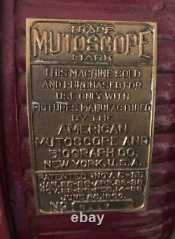 Mutoscope Mutoscope Clam Rare Machine En Fonte De Pièce De Fer Operated Viewer