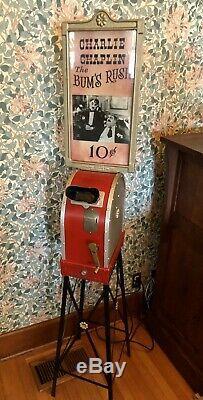 Mutoscope Vintage Film Machine Antique Charlie Chaplin Reel Penny Arcade