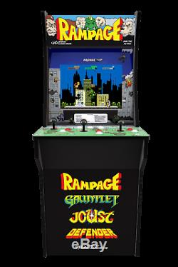 New Rampage 3 Joueur Arcade Arcade1up Machine Retro Joust Gauntlet Defender