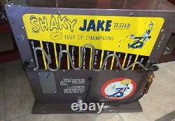 Nickel Vintage Shaky Jake Coin Jeu De Barre De Machine Exploité Comme Booz Baromètre