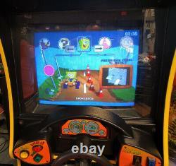 Nickelodeon Nicktoons Racing Arcade Driving Vidéo Jeu Machine Travaux Grands