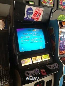 Nintendo Super System Arcade Cabinet Machine Avec Super Mario Tennis Et F-zero