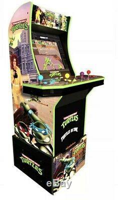 Nouveau! Arcade1up Teenage Mutant Ninja Turtles Arcade Machine Avec Riser