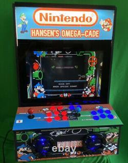 Omega-cade Arcade Custom Machine Bartop Ou Support Mural Choisissez Graphics Et Marquee