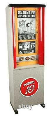 Pièce Justificative Carte D'approvisionnement Distributeur Automatique 10 Cent Coin-op Arcade Restaurée Esco
