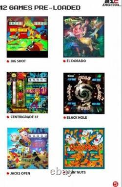 Pinball Machine Haunted House Black Hole Image Numérique 3d 12 Jeux D'arcade En 1