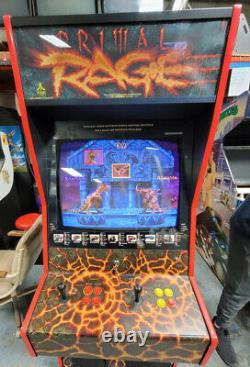Primal Rage Full Size Fighting Arcade Video Game Machine! Fonctionne Très Bien