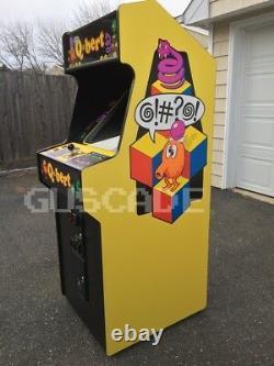 Qbert Arcade Machine Marque Nouveau Jeu Qbert @! C'est Quoi, Ça? Mint Guscade Grandeur Nature