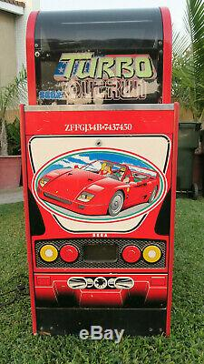 Rare Sega Turbo Outrun Sit Race Car Cockpit Vers Le Bas Driving Arcade Machine De Jeu