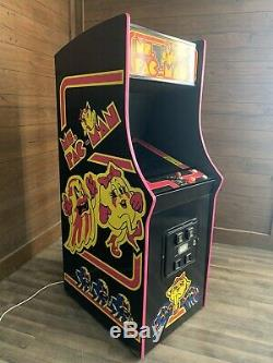 Restauré Noir Mme Pacman Arcade Machine, Réaménagées Pour Jouer 412 Jeux